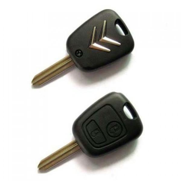 Κλειδι αδειο της CITROEN με 2 κουμπια και υποδοχη πλακετας