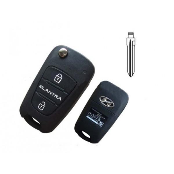 Άδειο κέλυφος για αναδιπλωμένο κλειδί με  τηλεχειρισμό για ELANTRA
