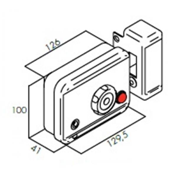 Ηλεκτρική Κλειδαριά Αυλόπορτας (Κουτιαστή) CE 104