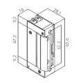 Ηλεκτρικό Κυπρί Μίνι Hold Open 16 mm με διακόπτη
