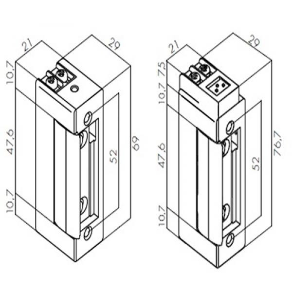 Ηλεκτρικό Κυπρί SYMETRIC Fail Safe 12V DC