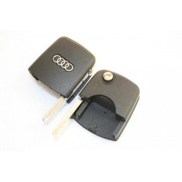 Κλειδί τύπου FLIP για AUDI με λεπίδα και υποδοχή για στρογγυλό REMOTE