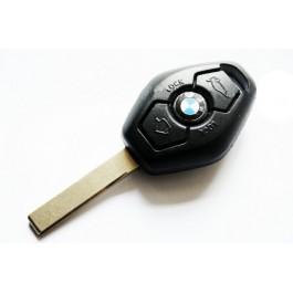 Κλειδί με τηλεχειρισμό της BMW με 3 κουμπιά και εξάγωνο κέλυφος