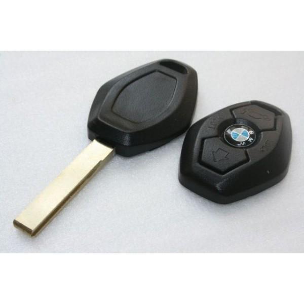 Κλειδί BMW με τηλεχειρισμό 3 κουμπιά και εξάγωνο κέλυφος